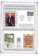 FRANCE - 2 ENVELOPPES CHARLES DE GAULLE BOURGES 25EME ANNIVERSAIRE DE SA MORT 1995 - De Gaulle (General)