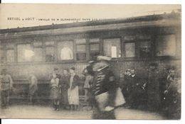 RÉPUBLIQUE FRANÇAISE : Rethel, 3 Août 1919 - Arrivée Du Train De Georges Clemenceau. CPA. - Histoire