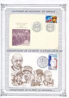 FRANCE - 2 CARTES GENERAL DE GAULLE 1987/1995 EPINAL SAINT PIERRE ET MIQUELON - De Gaulle (General)
