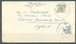 Mexico Cover, Sent To England, 2 Stamps, Used - Mexico