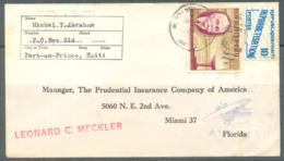 Haiti 1963 Airmail Cover, Port-au-Prince-Florida, 2 Stamps, Used - Haïti