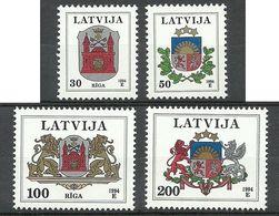LETTLAND Latvia 1995 Michel 389 - 392 MNH Coat Of Arms Wappen - Lettland