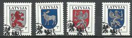 LETTLAND Latvia 1994 Michel 371 - 374 O Coat Of Arms Wappen - Lettland