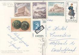 ESPANA 198? - 6 Fach Frankierung Sondermarken Auf Ak COSTA DORADA - 1931-Hoy: 2ª República - ... Juan Carlos I