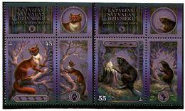 Latvia 2008 . Fauna 2008 (Marten, Beaver). 2v: 45 ,55.   Michel # 743-44 - Lettland