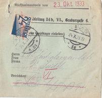 Ö-Nachporto 23.Okt.1933 - 24 Gro Nachporto Auf Rückstandsausweis, Gebrauchsspuren - Portomarken