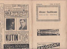 PROGRAMMHEFT (1920?) WIENER STADTTHEATER Wien VI, Gebrauchsspuren - Programma's