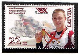 Latvia 2008 . Olym. BMX Champion M.Strombergs. 1v: 22.   Michel # 745 - Lettland