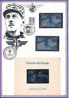 ECOSSE - TIMBRE DENTELE + TIMBRE NON DENTELE + BLOC NON DENTELE GENERAL DE GAULLE - De Gaulle (General)