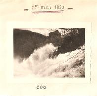 Foto Photo ( 7 X 9 Cm) Coo Cascade Watervallen Van Coo 1950 - Stavelot