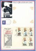 OMAN/JORDANIE - ENVELOPPE AVEC 5 TIMBRES OBLITERES GENERAL DE GAULLE - De Gaulle (General)