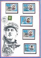 OMAN - 5 TIMBRES NON DENTELES NEUFS GENERAL DE GAULLE - De Gaulle (General)