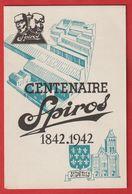 Spiros St DENIS  Centenaire  Compresseur ; Pompes ; Ventilateur  Menu Et Programme Du 12 Septembre 1942 - Visiting Cards
