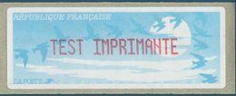 """LISA - ATM - TEST IMPRIMANTE Sur Vignette Type """"oiseaux De Jubert"""" - 1990 «Oiseaux De Jubert»"""