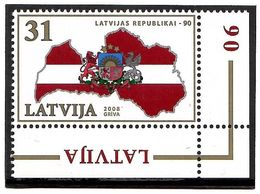Latvia 2008 . Latvian Republic-90. 1v: 31.    Michel # 747 - Lettland