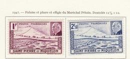 Saint Pierre & Miquelon 1941 Y&T N°210 à 211 - Michel N°213 à 214 * - Maréchal Pétain - St.Pierre & Miquelon