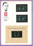 NAGALAND - TIMBRE DENTELE + TIMBRE NON DENTELE + BLOC NON DENTELE EN OR NEUFS GENERAL DE GAULLE - De Gaulle (General)