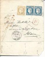 Pli Recommandé Local Du Tribunal D'instance T17 Le Havre Le Port Parti Sans Laisser D'adresse Retour Envoyeur 1769 - 1849-1876: Période Classique