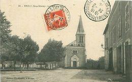 BRIOUX (79) - LA PLACE DE L'EGLISE - Brioux Sur Boutonne