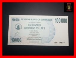 ZIMBABWE 100.000 100000  $ 1.8.2006  P. 48 B  UNC - Zimbabwe