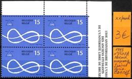 [831324]TB//**/Mnh-Belgique 1993 - N° 2507A, Bd4, Cdf, Noeud Maçonnique, 2 Paires Horizontale - Belgium