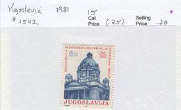 YUGOSLAVIA 1981 Parliament Building, Belgrade; Mint Hinged; Scott Cat. No(s). 1542 - 1945-1992 Socialist Federal Republic Of Yugoslavia