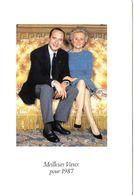 7 Cartes De Voeux De Jacques Et Bernadette Chirac Avec Encart Et Fac Similé Des Signatures  Chien Maskou - Personalidades Famosas