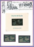 EYNHALLOW - TIMBRE DENTELE + TIMBRE NON DENTELE + BLOC NON DENTELE EN OR NEUFS GENERAL DE GAULLE - De Gaulle (General)