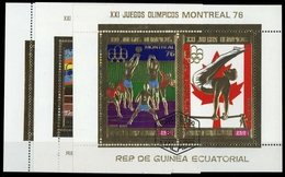 1976, Äquatorial-Guinea, Bl. 225 U.a., Gest. - Guinea Equatoriale