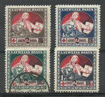 LATVIA Lettland 1921 Michel 65 - 68 Z */o - Lettland