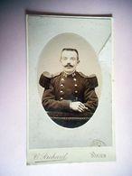 PHOTO CDV 19 Eme MILITAIRE SOLDAT 24 SUR LE COL MEDAILLE  Cabinet RICHARD A ROUEN - Guerra, Militari