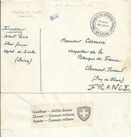 """Kriegsgefangenen Brief  """"Hôpital Du Locle (Neuchâtel)"""" - Clermond Ferrand       Ca. 1942 - Documenti"""
