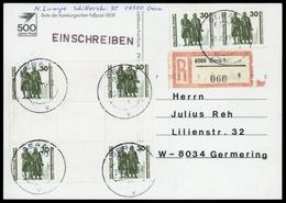 1990, DDR, Hz 20 U.a., Brief - Se-Tenant