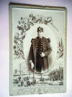 PHOTO Grand CDV 19 EME MILITAIRE SOLDAT 43 SUR LE COL  Cabinet DUPREEL à LILLE - Guerra, Militari