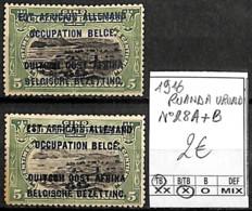 [841564]TB//*/Mh-Ruanda-Urundi 1916 - N° 28 A+B - Ruanda-Urundi