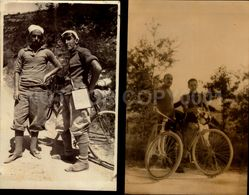 Giro Ciclistici In Abruzzo 1930 Fumaroli 2 Foto Reale Cartolina Italia Italy Postcard Cycling Sport Ciclismo (w6-48) - Cycling