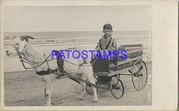 134910 URUGUAY PIRIAPOLIS DTO MALDONADO COSTUMES BOY WITH CART A GOAT POSTAL POSTCARD - Uruguay