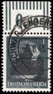 1945, Deutsche Lokalausgabe Schwarzenberg, 1 II OR, Gest. - Non Classificati