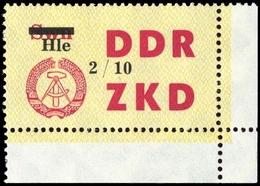 1964, DDR Verwaltungspost C Laufkontrollzettel ZKD, 52 Ecke, ** - [6] République Démocratique