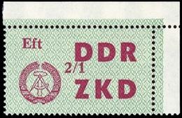 1964, DDR Verwaltungspost C Laufkontrollzettel ZKD, 34 Ecke, ** - [6] République Démocratique