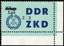 1964, DDR Verwaltungspost C Laufkontrollzettel ZKD, 54 Ecke, ** - [6] République Démocratique