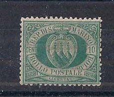 REPUBBLICA DI SAN MARINO 1892-94 CIFRA O STEMMA SASS. 14 MNH XF - Saint-Marin