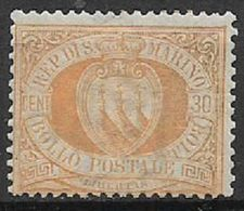 REPUBBLICA DI SAN MARINO 1892-94 CIFRA O STEMMA SASS. 16 MNH XF - Saint-Marin