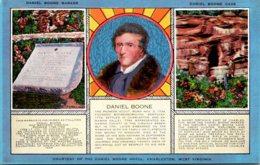 West Virginia Charleston Daniel Boone  Marker And Cave 1955 - Charleston