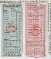 Biglietto Ticket Buillet Lsocieta' Automobilistica Dolomiti Cortina D'ampezzo Belluno Calalzo Tai Di Cadore Brunico - Chemins De Fer