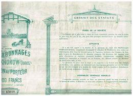 Titre Ancien - Société Anonyme Des Charbonnages De Prokhorow (Donetz) - Titre De 1895 - Déco - Russie