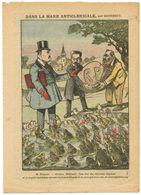 Dans La Mare Anticléricale.les Grenouilles.Poincaré.vous êtes Des Cléricaux Déguisés ( R P  Républicains Progressistes ) - Stiche & Gravuren