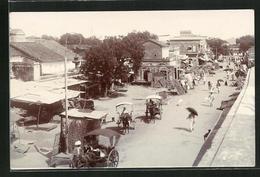 AK Jhansi, Street Scene, Blick Auf Eine Belebte Strasse - India