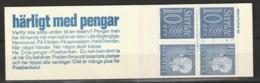 Sweden,  1965  -Booklet Gustav VI & Numeral Stamps MNH** Yv. C470a(V) HA12 - Carnets