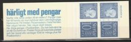 Sweden,  1965  -Booklet Gustav VI & Numeral Stamps MNH** Yv. C470a(IV) HA12 - Carnets